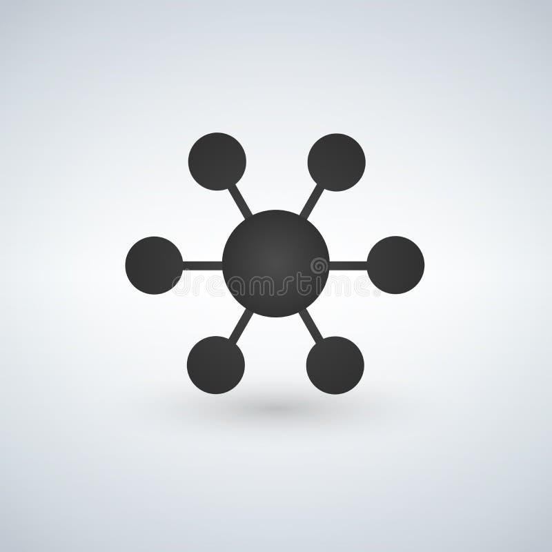 Związek ikony ilustracja odizolowywająca na bielu ilustracji