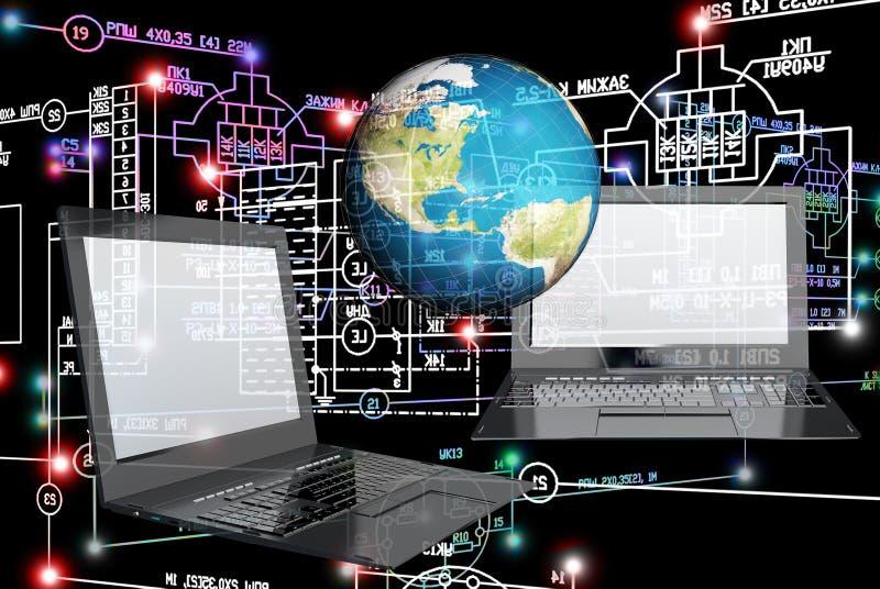 Związek inżynierii technologia royalty ilustracja
