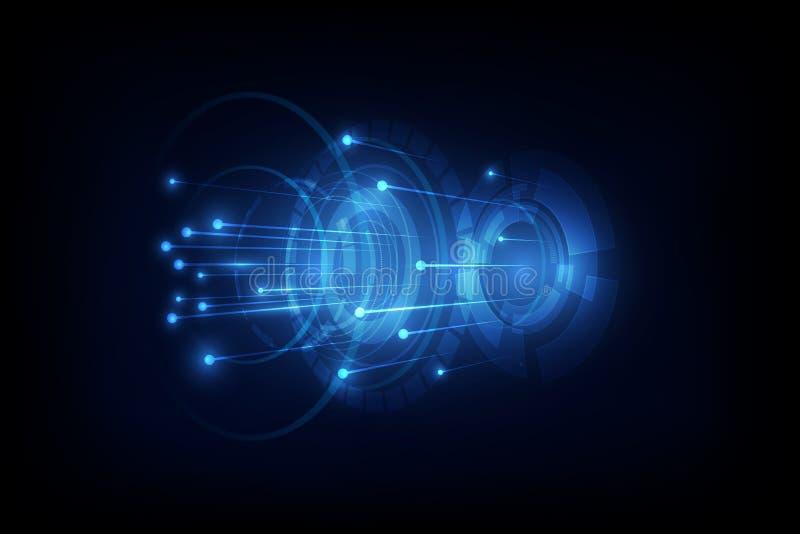 Związek linia na networking pojęcia telekomunikacyjnym backgrou ilustracja wektor