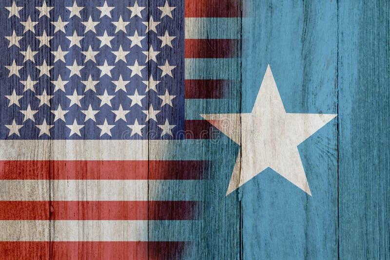 Związek między usa i Somalijski obraz royalty free