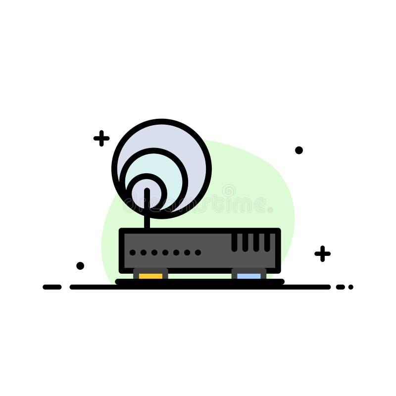Związek, narzędzia, internet, sieci mieszkania ikony sztandaru Biznesowa linia Wypełniający Wektorowy szablon ilustracji