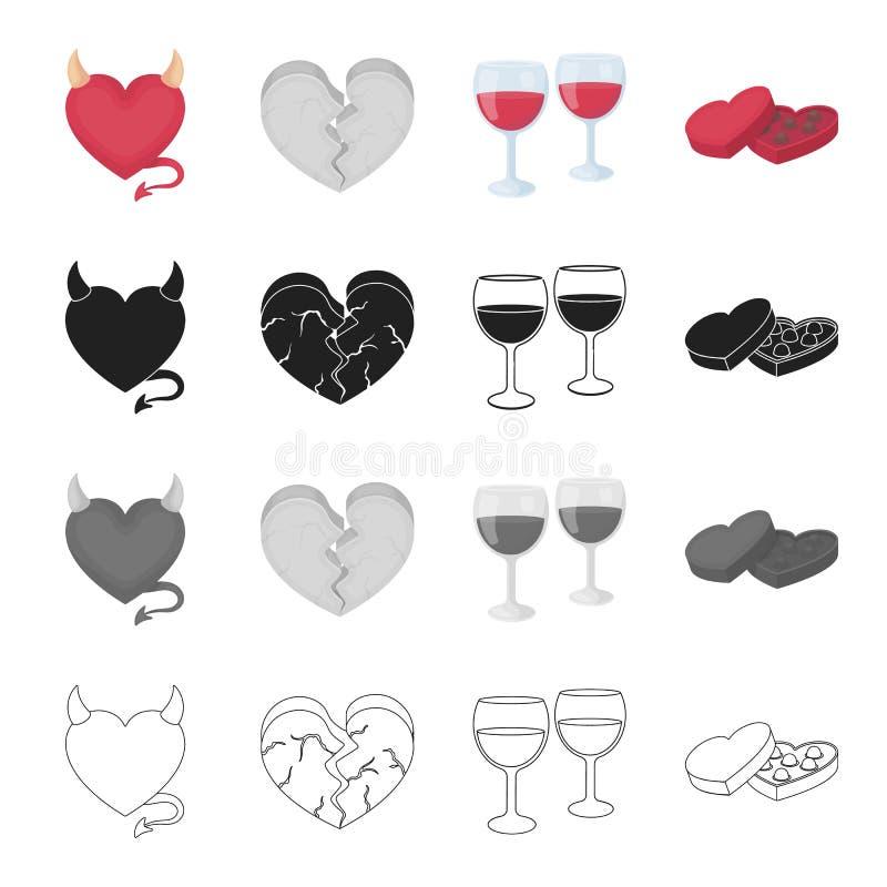 Związek, przyjaźń, wakacje i inna sieci ikona w kreskówce, projektujemy Miłość, nienawiść, czuciowe ikony w ustalonej kolekci royalty ilustracja