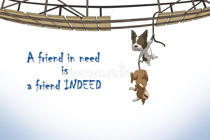 Związek przyjaciele royalty ilustracja