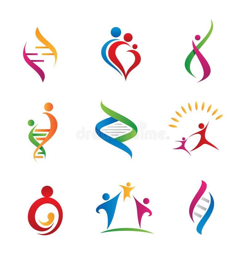 Związek rodzinny ikona i logo ilustracji