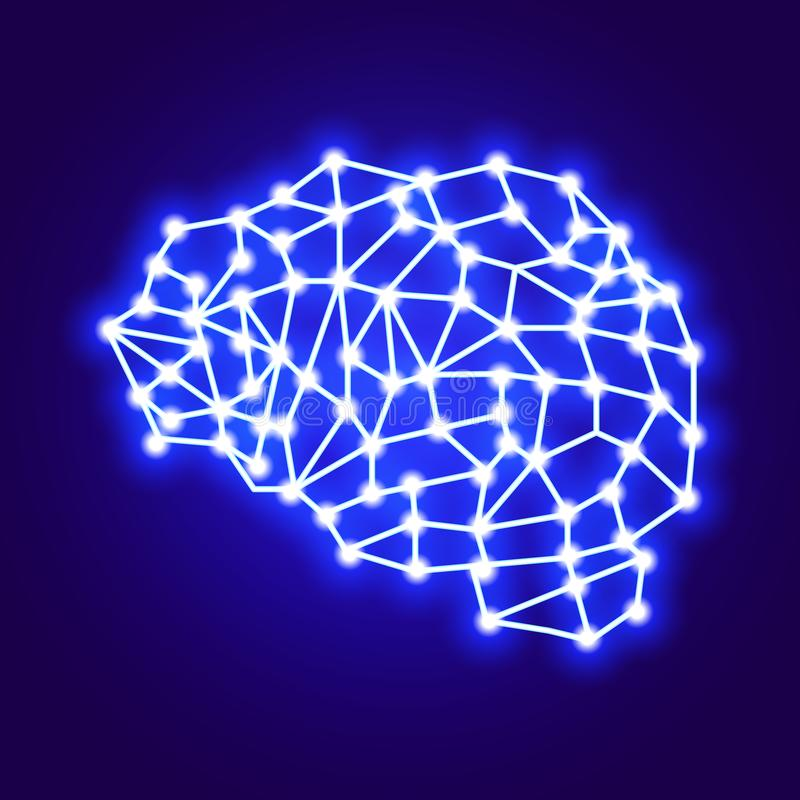 Związek sieć kreatywnie wektorowy logo Pojęcie Digital mózg wektor ilustracji