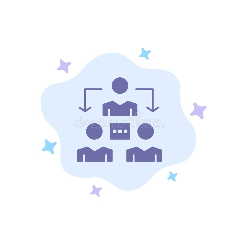 Związek, spotkanie, biuro, Komunikacyjna Błękitna ikona na abstrakt chmury tle royalty ilustracja