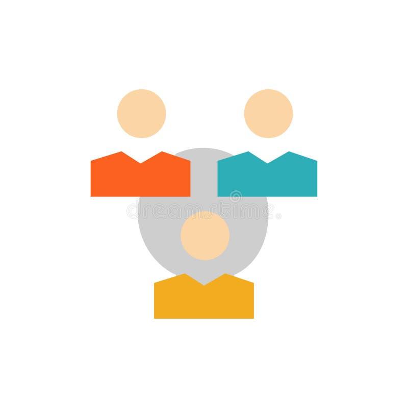 Związek, spotkanie, biuro, Komunikacyjna Płaska kolor ikona Wektorowy ikona sztandaru szablon ilustracja wektor