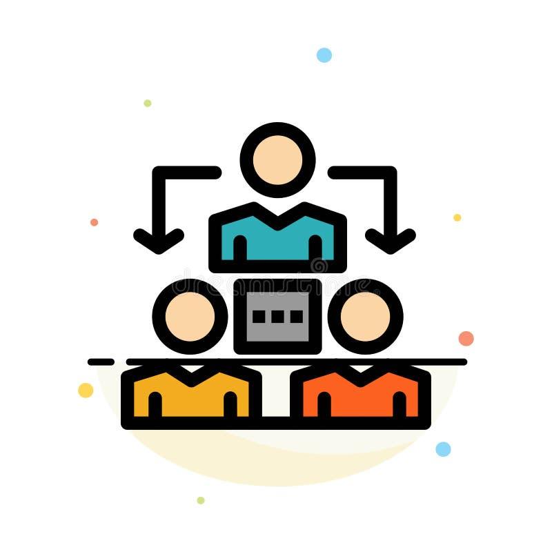 Związek, spotkanie, biuro, Komunikacyjny Abstrakcjonistyczny Płaski kolor ikony szablon ilustracji