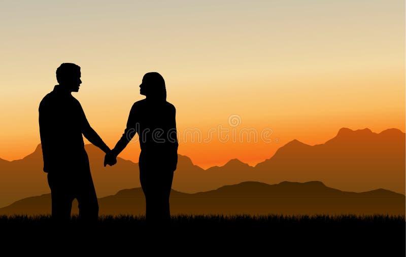 związek TARGET1093_1_ kochający zmierzch ilustracji