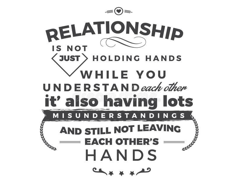 Związek właśnie no trzyma ręk podczas gdy ty rozumiesz each inny ilustracja wektor