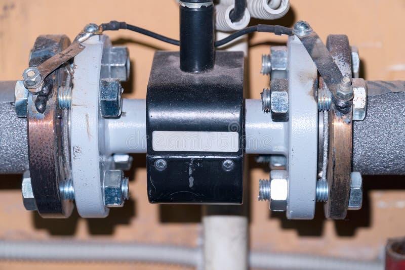 Związek zaopatrzeniowa pompa w domowym ogrzewaniu obraz stock