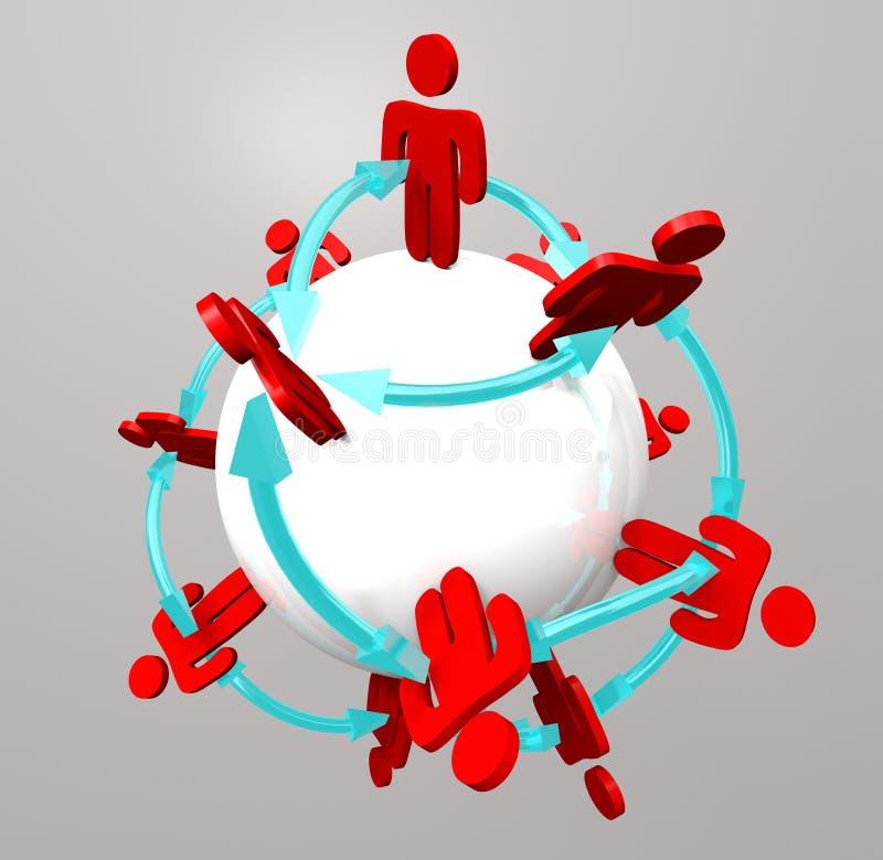 związków sieci ludzie ogólnospołeczni ilustracji