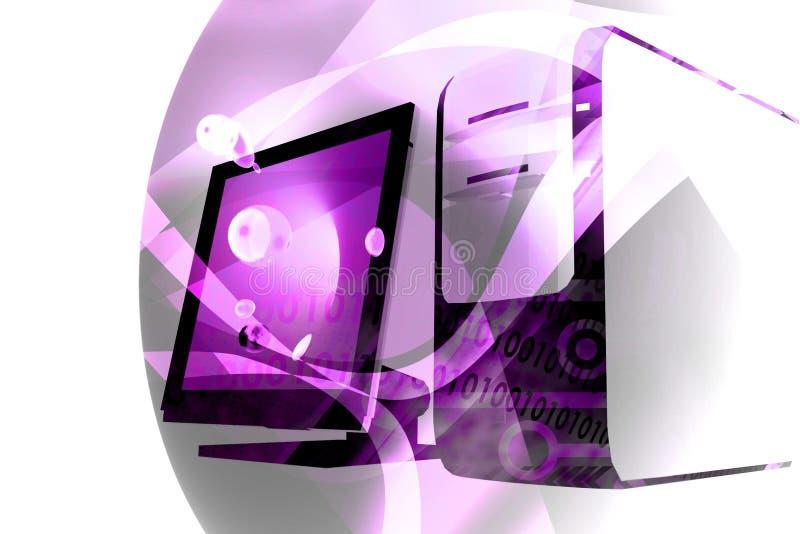 związki komputerowy violet technologii ilustracja wektor