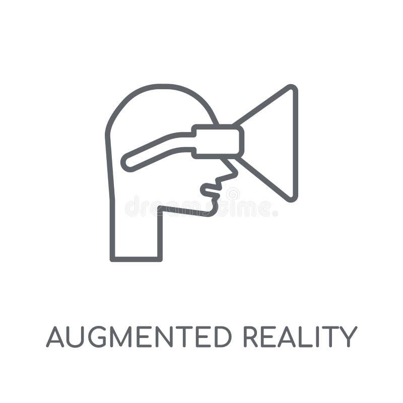 Zwiększająca rzeczywistości liniowa ikona Nowożytny kontur Zwiększająca rzeczywistość ilustracji