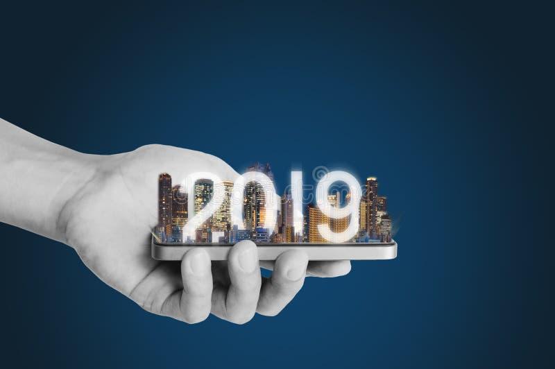 2019 zwiększali rzeczywistości technologię, nową technologię i nowego trend biznesowej inwestycji pojęcie, zdjęcia stock