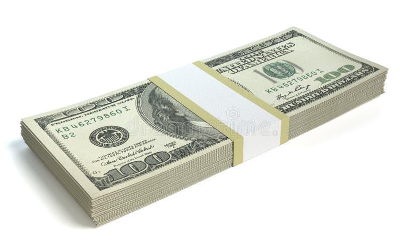 zwiększenie dochodów wykazując sterta pieniędzy ilustracja wektor