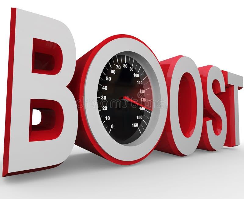 Zwiększenie szybkościomierz Mierzy Szybką prędkość ulepszenie ilustracja wektor