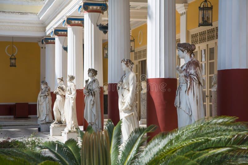 Zwiedzać w Corfu, Grecja/: Kasztel imperatorowa Elisabeth II od zdjęcia stock