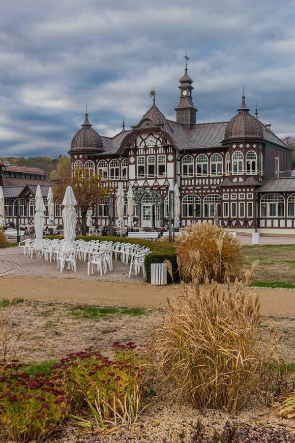 Zwiedzająca wycieczka turysyczna przez Złego Salzungen zdjęcia royalty free