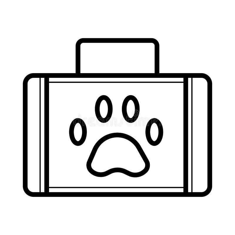 Zwierzę domowe pierwszej pomocy ikona ilustracja wektor
