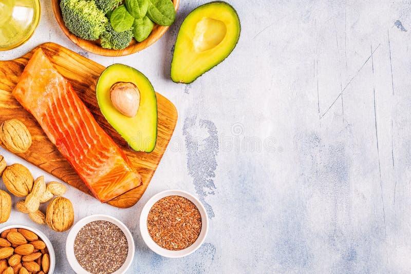 Zwierzęcy i jarzynowi źródła omega-3 kwasy zdjęcie royalty free