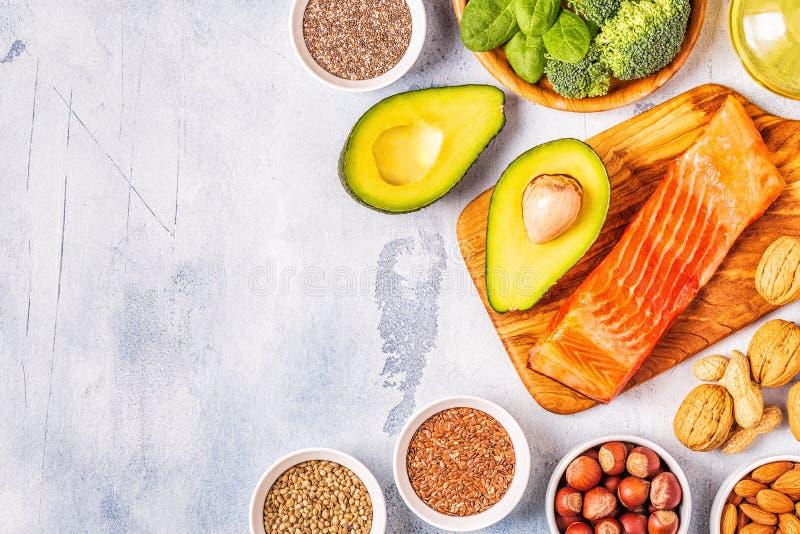 Zwierzęcy i jarzynowi źródła omega-3 kwasy zdjęcie stock