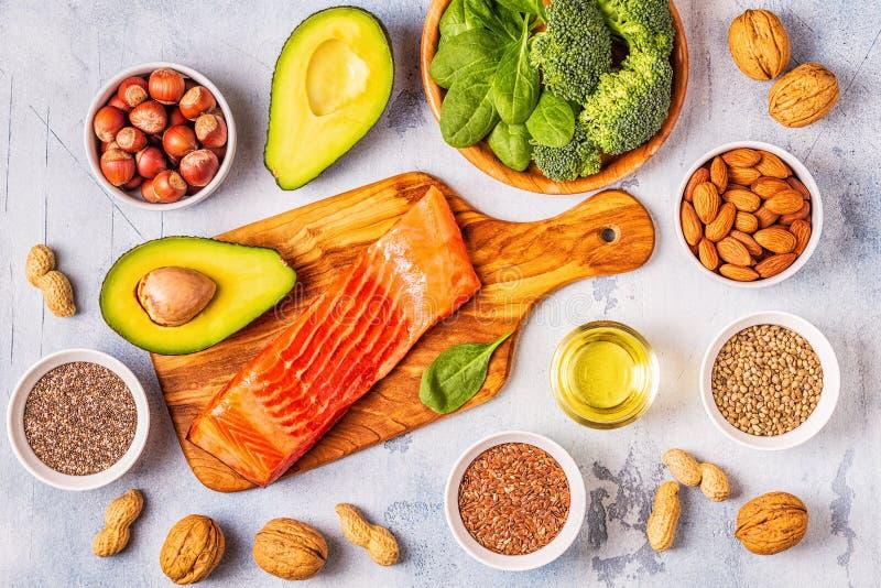 Zwierzęcy i jarzynowi źródła omega-3 kwasy fotografia royalty free