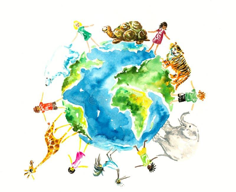 zwierząt dzieci ilustracji