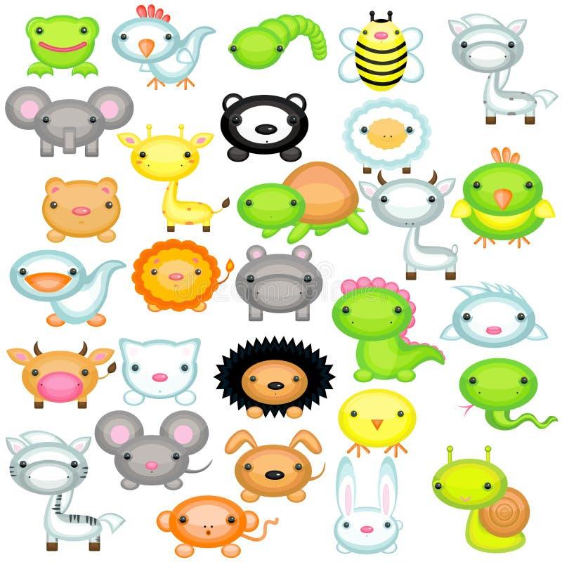 zwierząt dziecka duży set zdjęcia royalty free