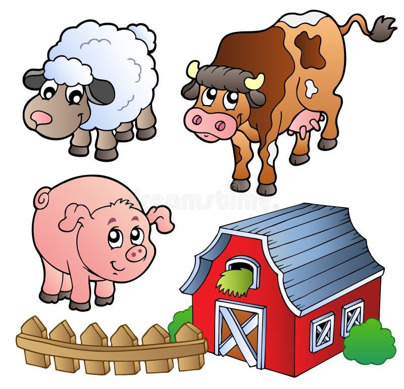 zwierząt kolekci gospodarstwo rolne różnorodny royalty ilustracja