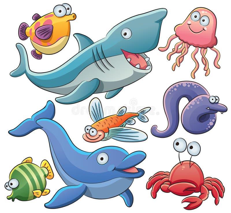 zwierząt kolekci morze royalty ilustracja