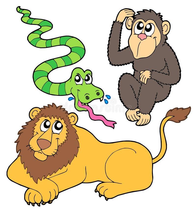 zwierząt kolekci zoo ilustracja wektor