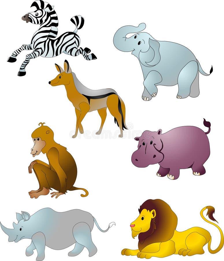 zwierząt kreskówki wektor royalty ilustracja