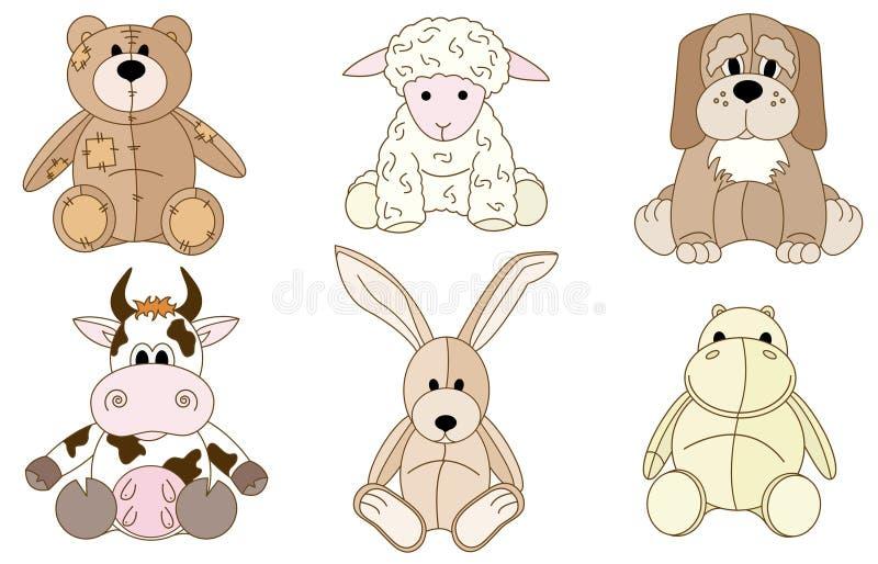 zwierząt mokietu zabawki ilustracja wektor