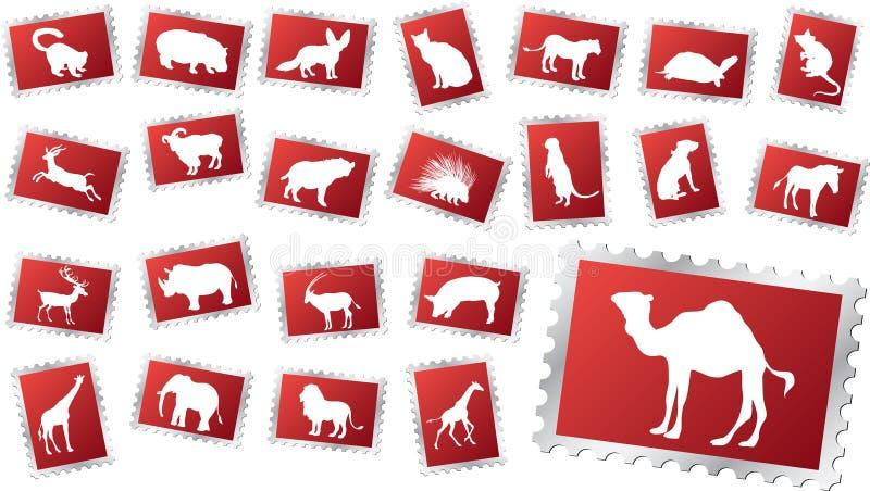 zwierzę 11 znaczek duży ustalony royalty ilustracja