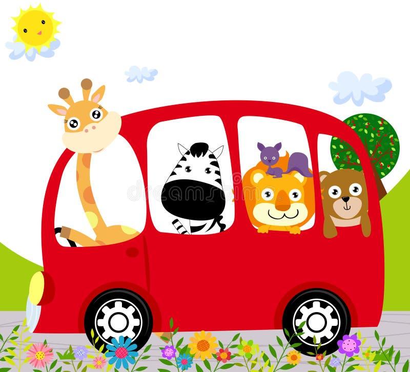 zwierzę autobus royalty ilustracja