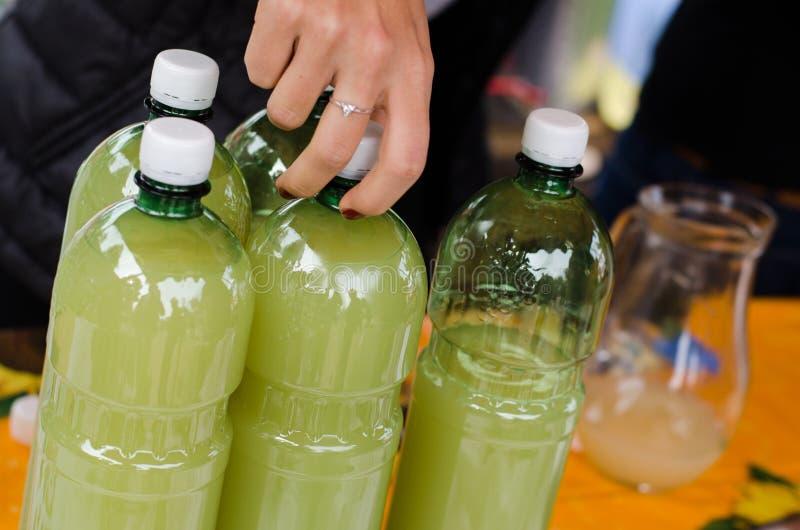 ZWIERZĘ DOMOWE butelki zdjęcie stock
