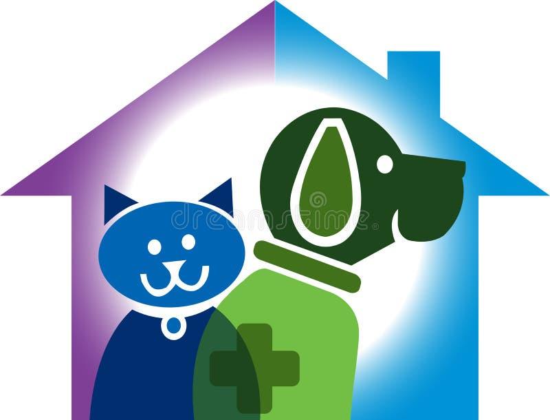 Zwierzę domowe domowy logo ilustracja wektor