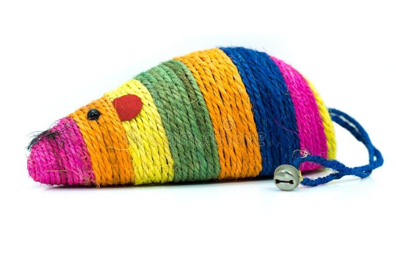Zwierzę domowe dostawy o myszy kolorowej zabawce dla kotów zdjęcia royalty free
