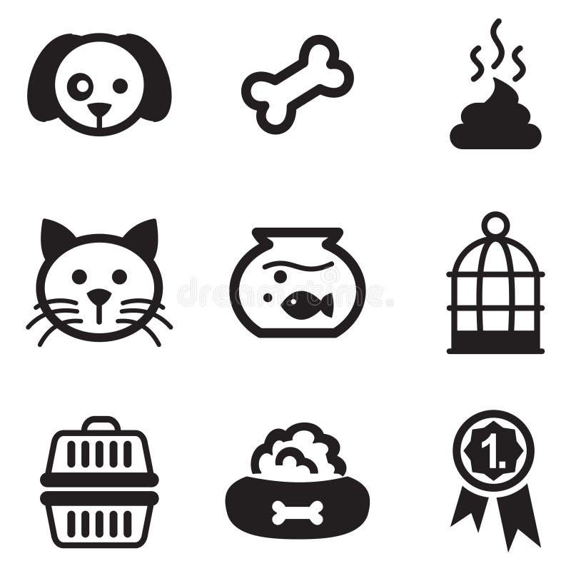 Zwierzę domowe ikony ilustracji