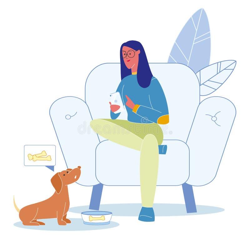 Zwierzę domowe niedbałość, Nieodpowiedzialnie zachowanie ilustracja ilustracja wektor