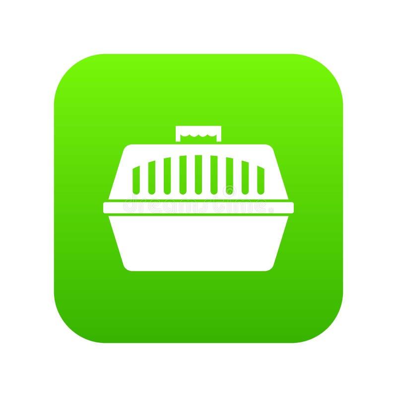 Zwierzę domowe niesie skrzynki ikony cyfrową zieleń royalty ilustracja