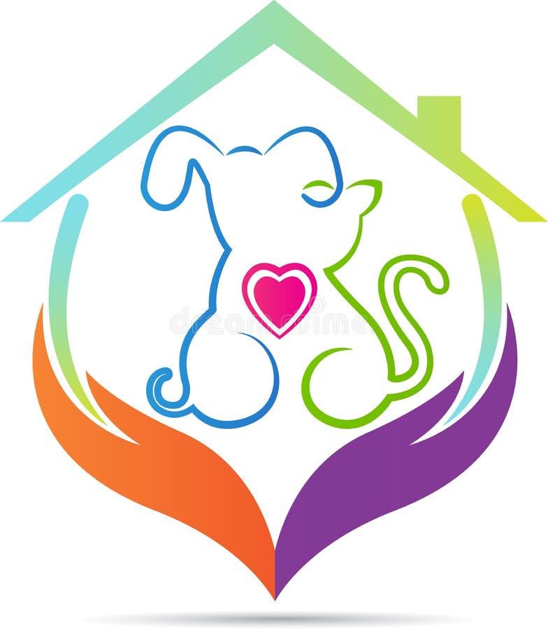 Zwierzę domowe opieki dom ilustracja wektor