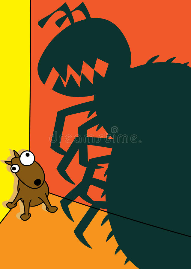 Zwierzę domowe psiej pchły infestation royalty ilustracja
