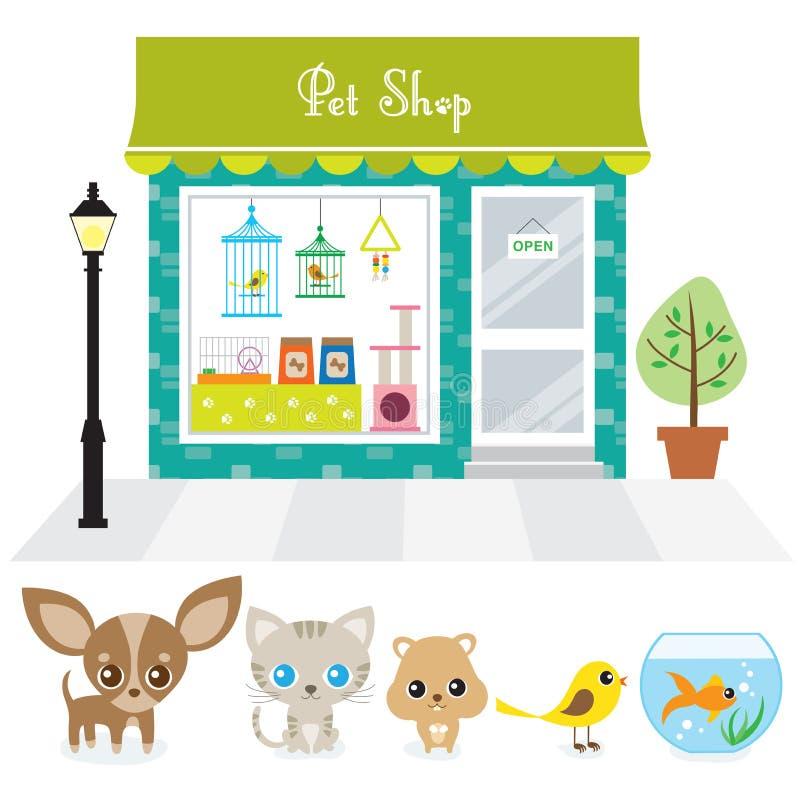 zwierzę domowe sklep royalty ilustracja