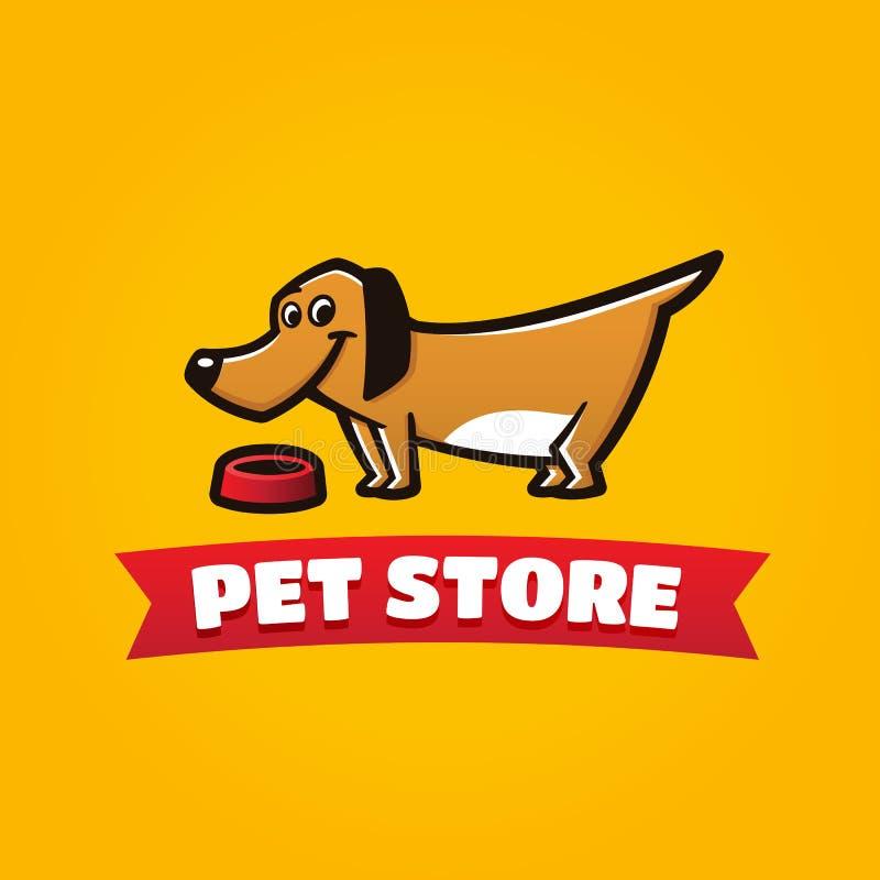 Zwierzę domowe sklepu śmieszny psi symbol ilustracja wektor