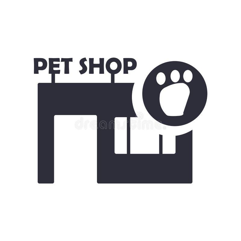 Zwierzę domowe sklepu ikony wektoru znak i symbol odizolowywający na białym tle, zwierzę domowe sklepu logo pojęcie ilustracja wektor