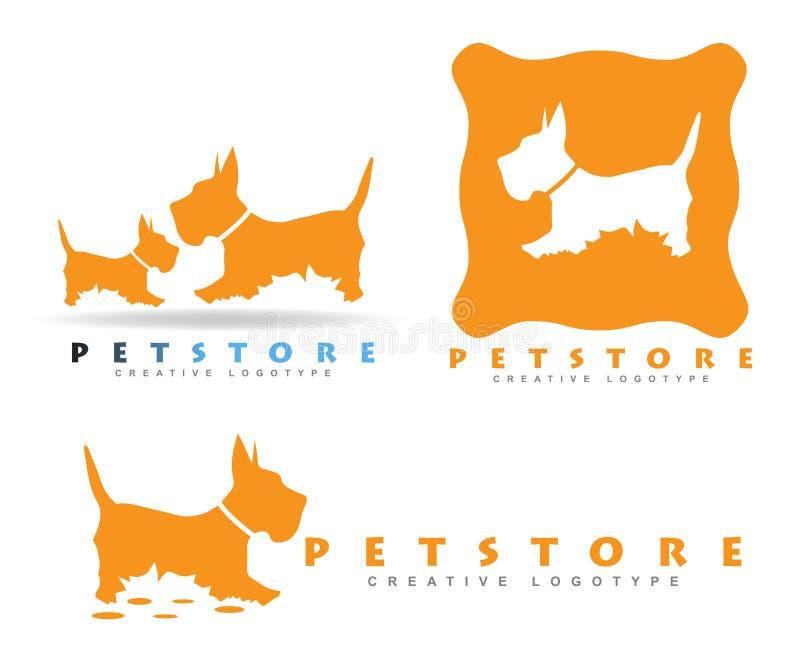 Zwierzę domowe sklepu logo royalty ilustracja