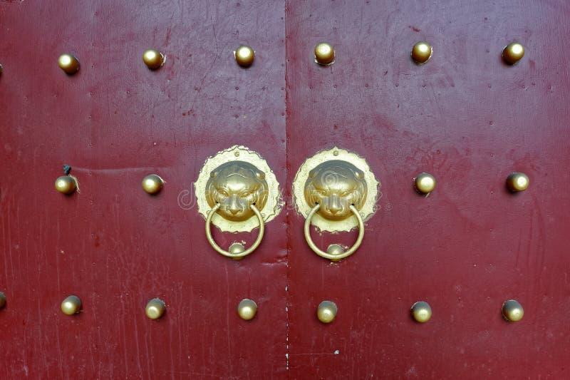 Zwierzę głowy groszaka gwoździa drzwi royalty ilustracja