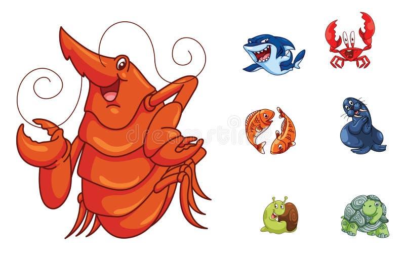 Zwierzę grupy kolekcja ilustracja wektor